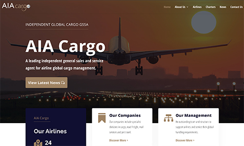AIA Cargo – Our New Website Is Now Live